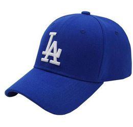 Wholesale Snapback Hats Los Angeles - 2016 Blue black Women Men Los Angeles LA Peaked Caps Curve Snapback Baseball Caps Golf Cap Sports Adjustable Women casquette Hunting Hats SD