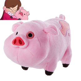 Wholesale Pink Pig Movie - Cartoon TV Movie Gravity Falls Plush Toy Dipper Mabel Pink Pig Waddles Stuffed Soft Dolls Kids Birthday Gifts Wholesale