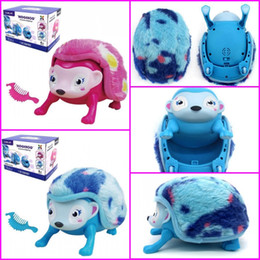 Wholesale Pets Hedgehog - Hot sale Interactive Pet Hedgehog with Multi-modes Lights Sounds Sensors Light-up Eyes Wiggy Nose Walk Roll Headstand Curl up Giggle Toys