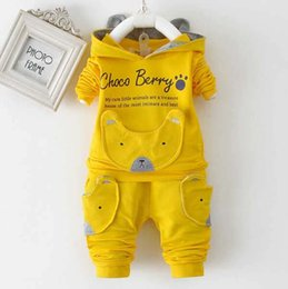 El nuevo 2016 primavera niño recién nacido niño adecuado para marca traje chaqueta + pantalón traje de moda niños niños de dibujos animados ropa desde fabricantes