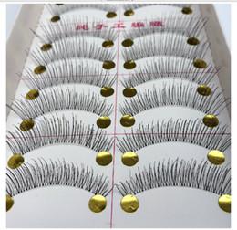 Wholesale Lowest Price Hair Extensions - Low Price Women Cosplay Natural Sparse Cross Eye Lashes Extension Makeup 10paris box Women's Eyelash Long False Eyelashes