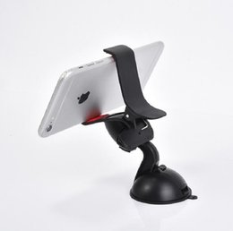 Wholesale Universal Smartphone Holder - Free shipping 360 degree Car Windshield Mount cell mobile phone Mounts & Holders Bracket stands for iPhone5 4S for samsung Smartphone