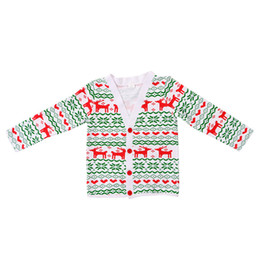 Wholesale Kids Christmas Cardigan - Wholesale Christmas Baby Clothes Autumn Deer Print Cardigan Baby Top Long Sleeve Warm Kids Outfit Top Hot Sales