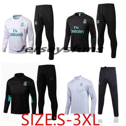 Wholesale Microfiber Jackets - 2017 218 S-3XL Real Madrid Football Jacket tracksuit Soccer Uniforms RONALDO Maillot de foot BALE RAMOS ISCO Jacket Training Suit