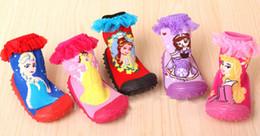 Wholesale Beautiful Socks - Beautiful girl 2016 5pairs lot rubber soles socks cartoon Kity anti slip baby socks infant socks non slip baby wear kid's socks