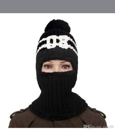 Wholesale Wool Riding Hat - 2017 Thickening Cycling Wool Hats Women Lovely Winter Cap Increase Earmuffs Hat Ride Keep Warm Scarf Balaclava Ski Mask 6 Colors