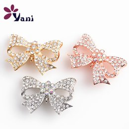 Wholesale Rhinestone Brooches For Dresses - Fashion Pins and Brooches Bowknot Collar Flower Brooches Jewelry for Wedding Dress Silver Gold Rose Gold Brooches Jewelry