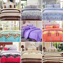 Wholesale Orange Comforter Sets Queen - Fashion Printing Bedding Set Fashion Bed Sheet   Duvet Cover   Pillowcase Winter Cotton 4 Pcs Bed Set Comforter Bedding Sets