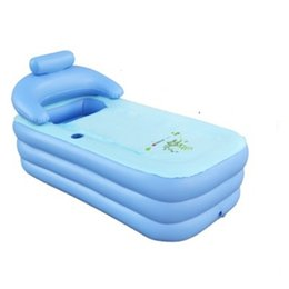 Wholesale Inflatable Foot - Free shipping Hot Sale Adult folding SPA bathtub bath bucket Portable inflatable bathtub inflatable bath tub piscina foot Pump