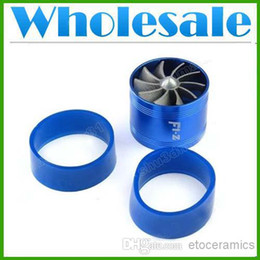 "Wholesale Intake Turbines - wholesale Aluminum Car Single Turbine TURBO Fuel Gas Saver Fan For 2.5""-3"" (65mm-74mm) Air Intake 55,000R Min lots100"