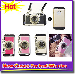 Wholesale Cell Phone Hangings - New Cell Phone Cases For iPhone 5 5s iPhone 6 6s Camera Phone Cases With Hanging Lace Protect Cases For iPhone6 6s plus