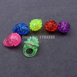 Wholesale Lighted Decorative Boxes Wholesale - Hot Christmas Party LED Soft Jelly Glowing Decorative Finger Rings Light Flashing Ring Light Christmas Birthday Kids Light-up Toys