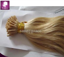 Wholesale Stick Virgin Hair - new Loose wave color 24 prebonded stick I tip hair Brazilian hair extension 100% virgin human hair