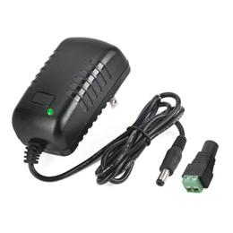 Wholesale 12v Power Supply Camera Dvr - AC 100-240V to DC 12V 2A Power Supply Adapter 5.5x2.1mm Switching for CCTV Camera DVR NVR Led Light Strip