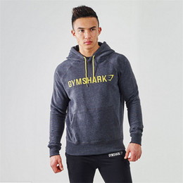 Wholesale Slim Muscle Men - Wholesale-2016 Gymshark Hoodies Gym Hombre Coat Bodybuilding And Fitness Hoodies Sweatshirts Muscle Men's Sportswear