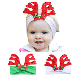 Piccolo vestire online-2017 New Small Antlers Fascia per bambini Festa di Natale Dress Up Fasce per Baby Girl Toddler Headwear Accessori per capelli Capelli Bow