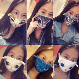 Wholesale Dogs Wool - 16 Styles 3D Cat Dog Tiger Fashion Winter Women Men Face Mouth Masks Lovers Anti Dust Windproof Masks Haze Mouth Mask BY DHL