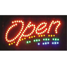 Wholesale Opening Sign Board - 2016 limited sale customed low power 10X19 inch indoor Animated Running led open sign led boards wholesale