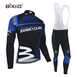 Wholesale Cycling Jersey Customize - BXIO Brand Fleece Thermal Winter Cycling Jerseys Sets Dark Blue Unisex Cycling Clothing Can be customized Giant Bicycle Clothes BX-0108DB010