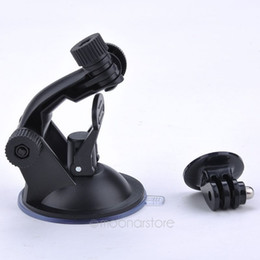Wholesale Hero Suction - New Car Suction Cup Adapter Window Glass Mount Holder Tripod for Gopro Hero 5 4 3 2 Sjcam Sj4000 Xiaomi Yi Camera Accessories