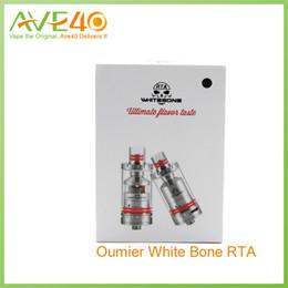 Wholesale Electronic Cigarette Refill Atomizer - Original Oumier White Bone RTA Electronic Cigarettes 316 Ss Top Refill Tank Atomizer Juice Capacity 2.5ml VS Smok TF-RDTA Tank