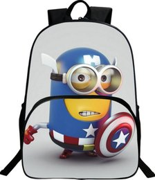 Wholesale Backpack Despicable - New Arrival Boys Cartoon Minions School Bags,Cute Despicable Me 2 Minions Kids backpack Bag,Children Book Bags Girls