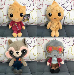 Wholesale New Plush Toys - Guardians of the Galaxy Plush Dolls Guardians of the Galaxy Plush Toys 22cm Stuffed Kids Toys Christmas Gift for Kids 60pcs