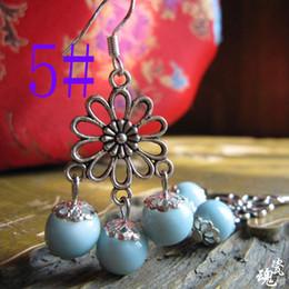 Wholesale Drop Water Style Earrings - national wind style ceramic earrings long water drop shape earrings for women newest black earrings
