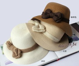 Wholesale Dayan Mao - 2016 spring and summer new bow rope wide-brimmed straw hat dome fisherman sun Dayan Mao