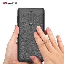 Wholesale Premium Skin Case - For Nokia 8 6 for Sony Xperia XA1 Ultra XZ Premium XZS XZ1 Compact Litchi Leather Skin TPU Soft Rubber Phone Back Case Cover 1pcs 5pcs