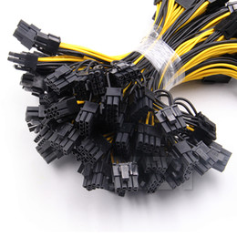 Wholesale Powered Hub - 6 inch Molex 6-pin PCI Express to 2 x PCIe 8 (6+2) pin Motherboard Graphics Video Card PCI-e GPU VGA Splitter Hub Power Cable