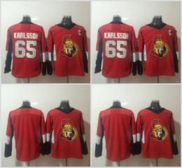 johnny oduya jersey Sconti 2018 Economici New Ottawa Senators Hockey Maglie 65 Erik Karlsson Jersey 29 Johnny Oduya 9 Bobby Ryan C Patch Rosso Bianco cucita
