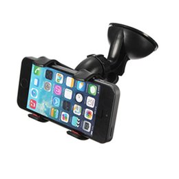 Wholesale Iphone Windscreen - Smartphone In Car Windscreen Suction Mount Holder for iPhone 6 6S Plus 5s 5c 4s CPA_30R
