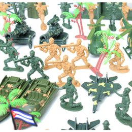 Wholesale Helicopter Child - 122pcs Mini 6cm Plastic Soldier Military Set With Tank Helicopter Model Best Gift For Boys Children