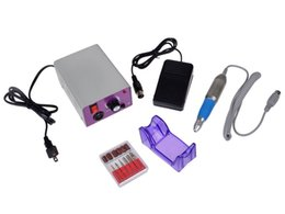 Wholesale Acrylic Nail Electric File Drill - Cheapest Nail Drill Complete Electric Nail Drill Kit Set Art File Bit Acrylic Manicure Drill 30000RPM DHL