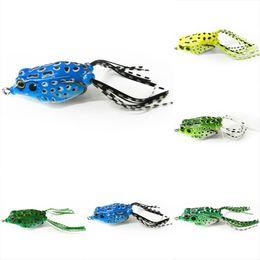 Wholesale Double Frog Hooks - New Promotions 1 Pcs Mini Soft Plastic Frog Fishing Lure Crank baits Double Claw-Like Hook
