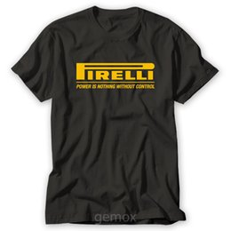Wholesale printed t shirts for boys - Pirelli Tyres T-Shirt for Male Boy T Shirt Print T-Shirt Men Summer Top Tee Fashion T-Shirts Slim Fit O-Neck Top Tee