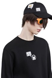 Wholesale Couple Music - 2016 autumn music emoji sweatshirt for women embroidery smile face hoodies women's clothing couple pullovers cotton long sleeve hoody