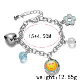 Wholesale Fresh Flower Bracelets - Newest Bracelets for women Fresh and lovely Bracelets flowers the Smile Heart Ladies Bracelets free shipping