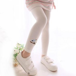 Wholesale Embroidered Leggings - 2017 Spring Summer Baby Girl Pants Embroidered Birds Trousers Toddler Girl Leggings Baby Clothes