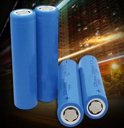 Wholesale Lamp Lighter - High quality ICR 18650 3.7v 2200MAH Flat Head Rechargeable LI-ion Battery Blue high quality for bicycle solar lamp laser lighter
