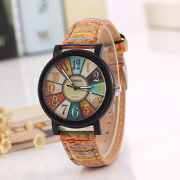 Wholesale Antique Trade - Free shipping wholesale Foreign trade sales speed sell hot style Geneva watch male ladies fashion Striped Roman dial Color quartz watch