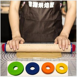 Wholesale Patterned Rolling Pins - Wooden Rolling Pin Fondant Adjustable Rolling Pins Multifunction Baking Stick Thickness Embossing Patterned Cake Tools