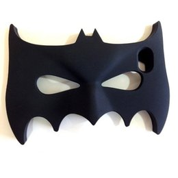Wholesale Iphone5 Batman Cases - New Sales 3D Halloween Batman Design Cell Phone Cases Silicone Black Luminous Bat Mask Cell Phone Cases for Iphone5 Iphone6 6plus
