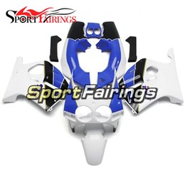 1988 cbr Promo Codes - White Blue Complete Fairings Kit For Honda CBR 250RR MC19 1988 1989 CBR 250RR 88 89 Injection Motorcycle Sportbike Bodywork Cowlings