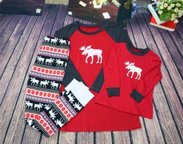 Wholesale Wholesalers Family Fashion - Christmas Pajamas Family Matching Clothes Christmas Clothing Sets Mother and Daughter Father Son Matching Clothes Xmas Elk Homewears 911