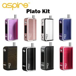 Wholesale Ecigarette Designed - Original Aspire Plato Kit Tempe Control Upgradeable 50W Mod Subohm Setup All in One Design Vaporizer Ecigarette with Clapton Coil