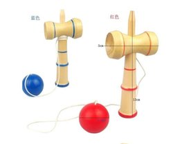 Wholesale Japanese Cup Ball Games - Free shipping 13.5*5.5cm kendama cup-and-ball game kendama japanese toy wooden toy kendama skills ball crack jade sword ball