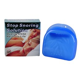 Wholesale Sleeping Aids - 100X ANTI SNORE Stop Snoring Mouthpiece Snore Soft Silicon Anti Snore Sleeping Aid Prevents Grinding of Teeth with retail package
