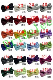 Wholesale Knots Men Women - New 2017 Fashion Bow Tie Pocket Married Bow Ties Male Bow Candy Color Butterfly Ties for Men Women Mens Bowties 24 Colors